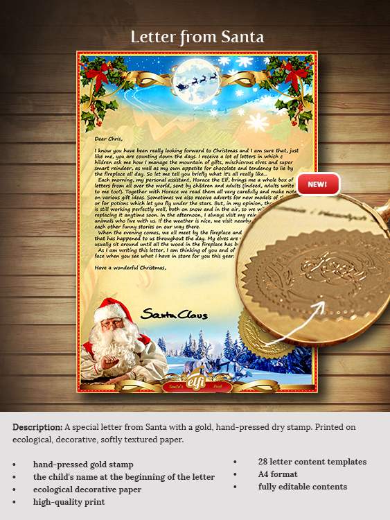 Letter from santa a personalised santa letter just for you letter spiritdancerdesigns
