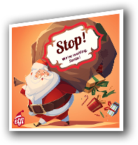 A complimentary door sticker is provided to make sure Santa does not miss your house when delivering presents