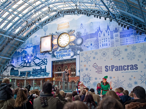 232ft advent calendar at St Pancras station